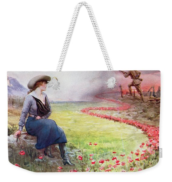 The Thin Red Line Weekender Tote Bag