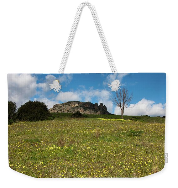The Three Finger Mountain Weekender Tote Bag