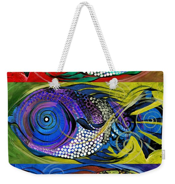 The Three Fishes Weekender Tote Bag