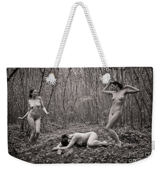 Weekender Tote Bag featuring the photograph The Three Graces by Clayton Bastiani
