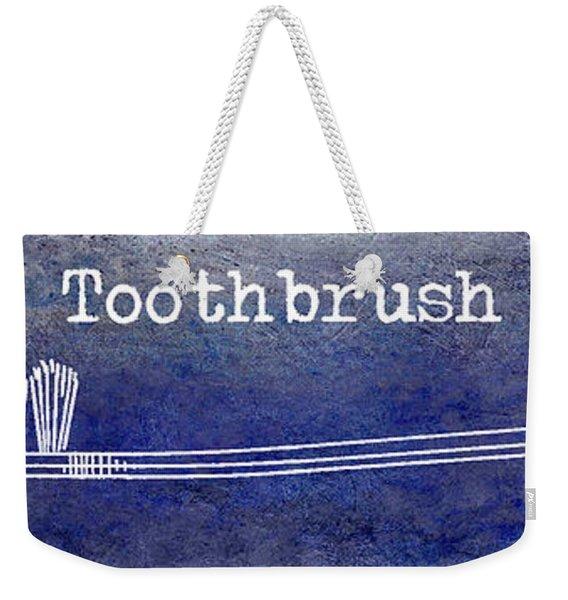 The Toothbrush Blue Weekender Tote Bag
