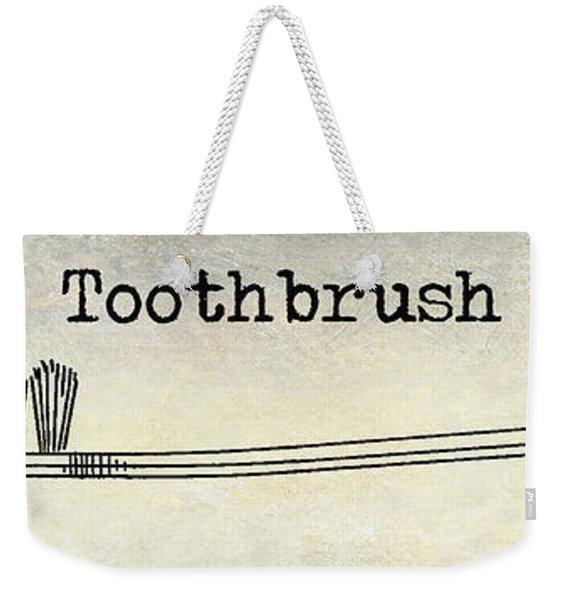 The Toothbrush Weekender Tote Bag