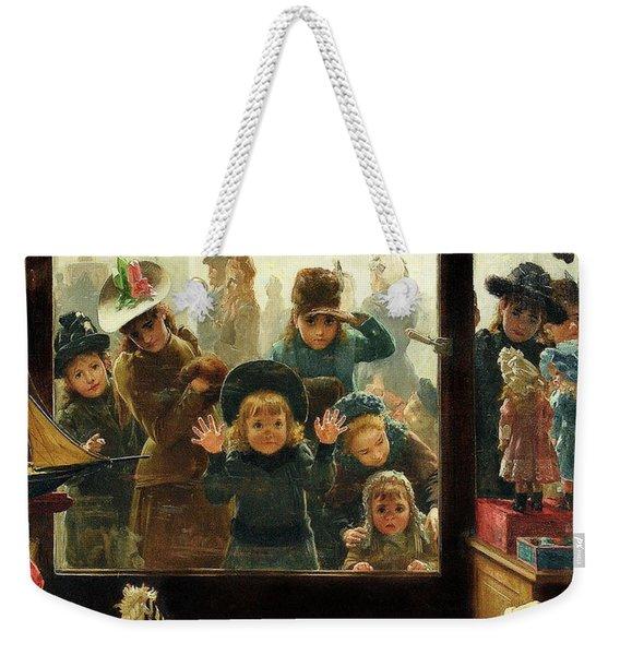 The Toyshop Window Weekender Tote Bag