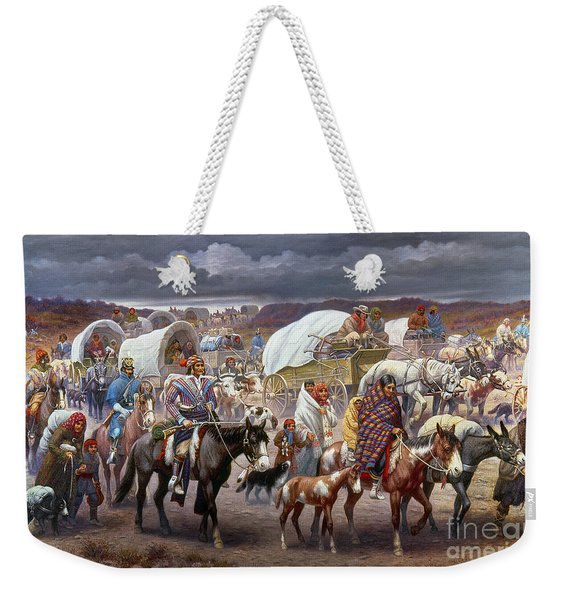 The Trail Of Tears Weekender Tote Bag