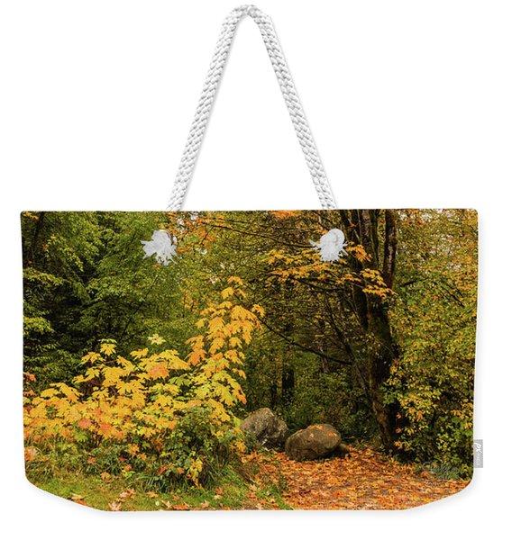 The Trail Starts Here Weekender Tote Bag