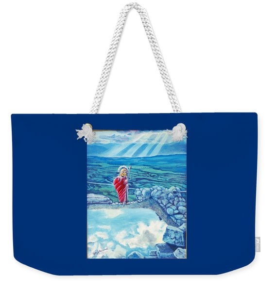 The Transcending Spartan Soldier Weekender Tote Bag