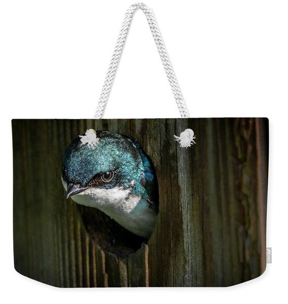 The Tree Swallow Weekender Tote Bag