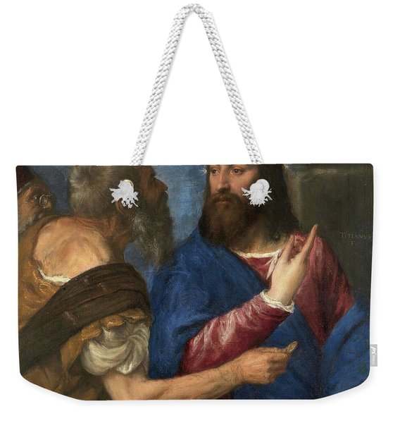 The Tribute Money Weekender Tote Bag