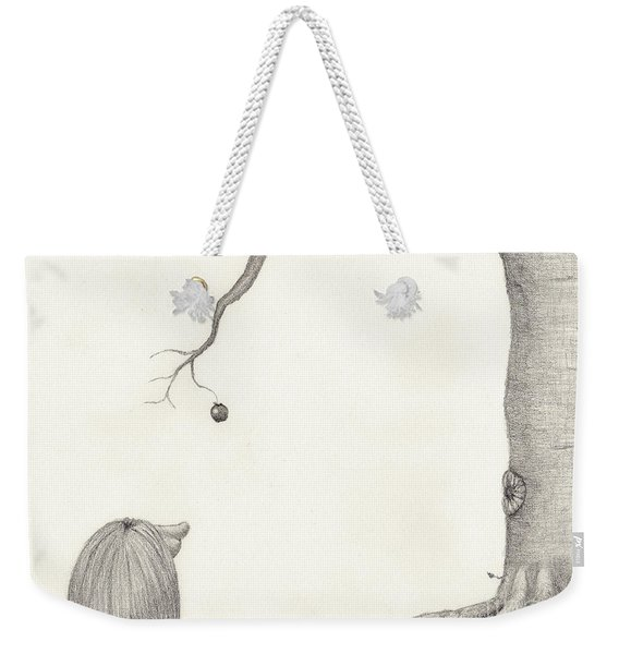 The Troll And The Apple Weekender Tote Bag