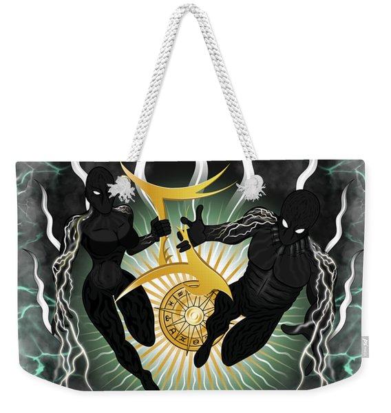 The Twins Gemini Spirits Weekender Tote Bag