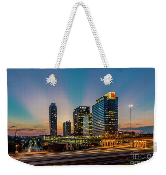 The Unexpected Sunset Midtown Atlanta Cityscape Skyline Art Weekender Tote Bag