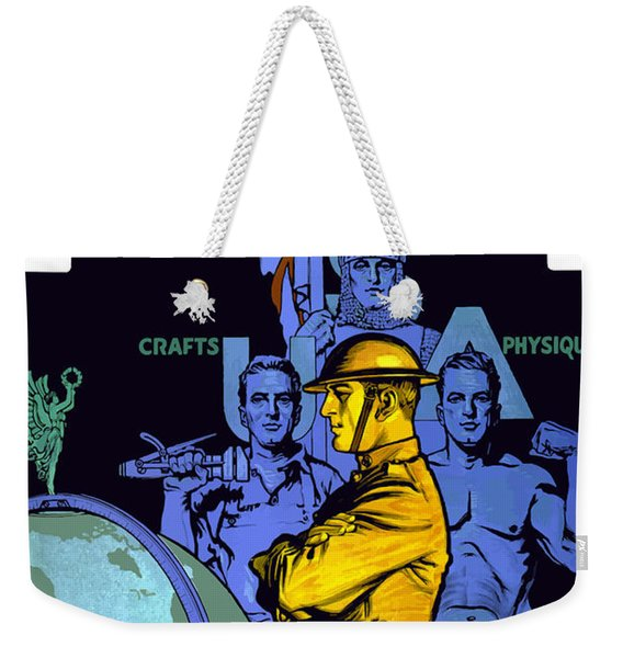 The United States Army Builds Men Weekender Tote Bag