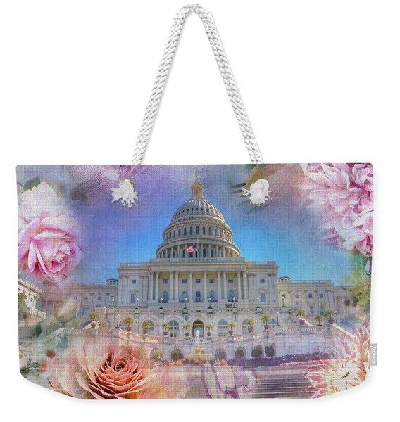 The Us Capitol Building At Spring Weekender Tote Bag