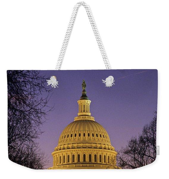 The U.s. Capitol Building Lit Weekender Tote Bag
