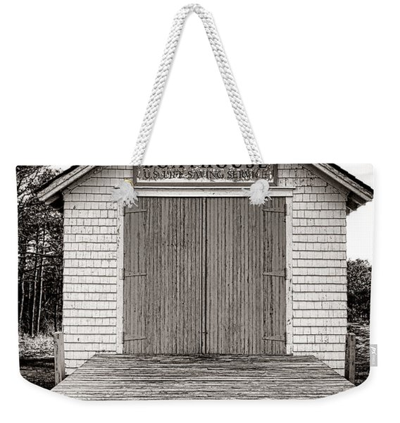 The U.s. Life Saving Service Boathouse Weekender Tote Bag