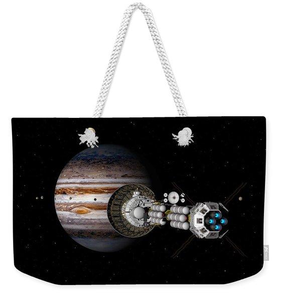 The Uss Savannah Nearing Jupiter Weekender Tote Bag