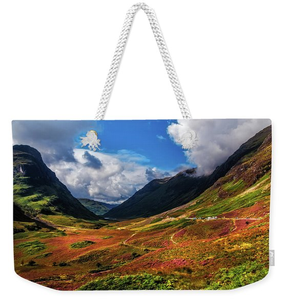 The Valley Of Three Sisters. Glencoe. Scotland Weekender Tote Bag