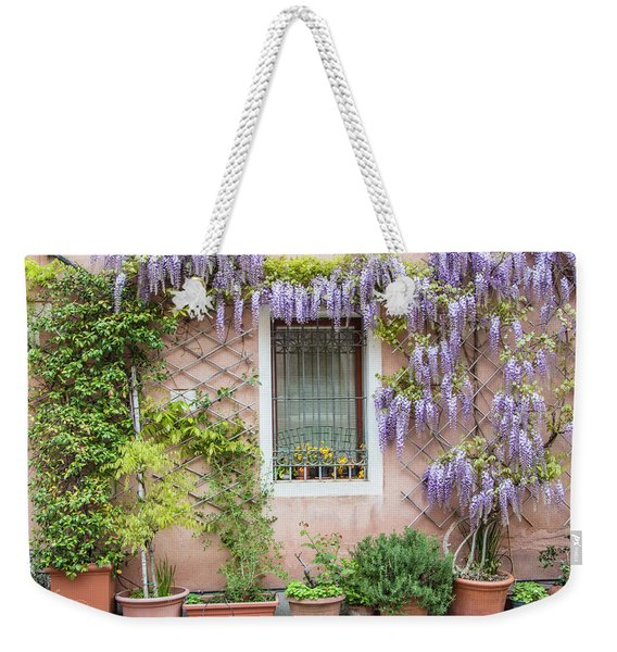 The Venice Italy Window  Weekender Tote Bag