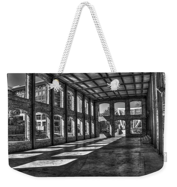 The Venue Bw Old Mill Wedding Venue Reedy River South Caroline Art Weekender Tote Bag