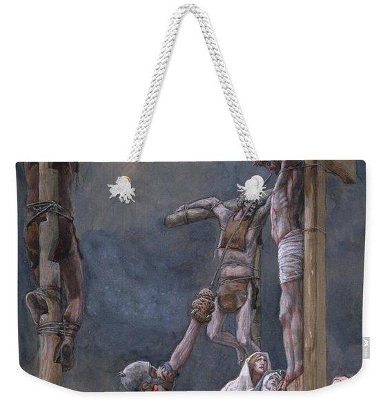 The Vinegar Given To Jesus Weekender Tote Bag