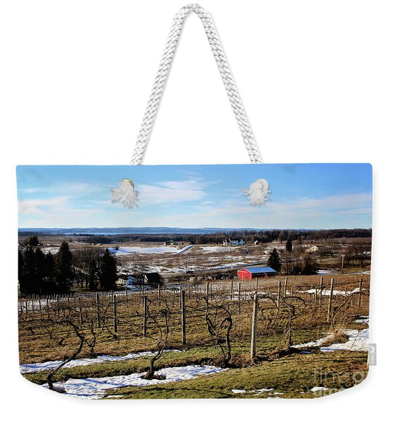 The Vineyard On Old Mission Weekender Tote Bag