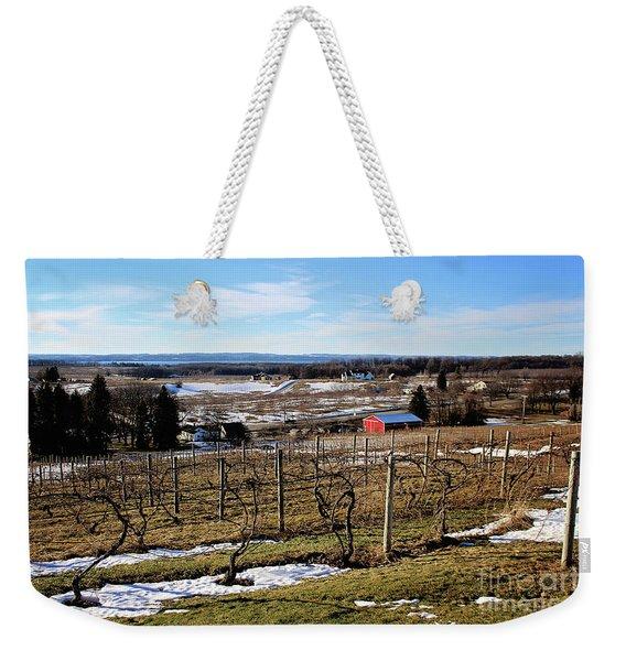 The Vineyard On Old Mission Weekender Tote Bag