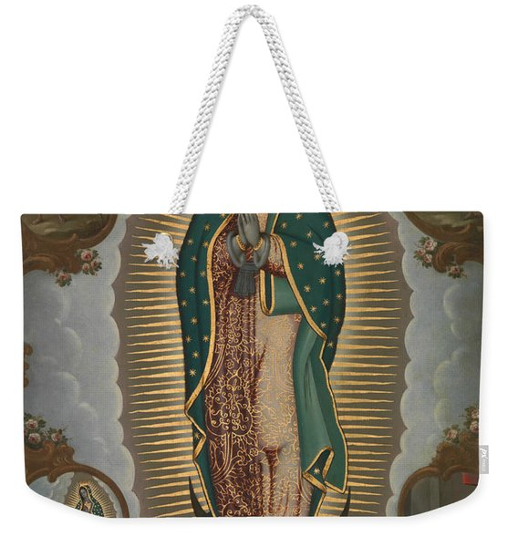 The Virgin Of Guadalupe With The Four Apparitions Weekender Tote Bag