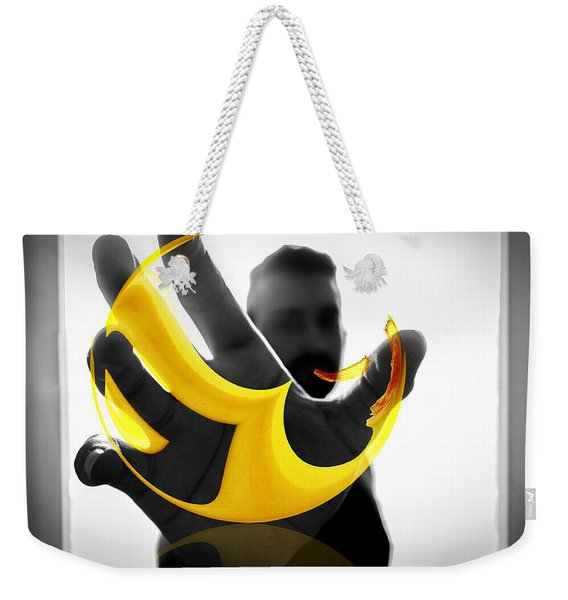 The Virtual Reality Banana Weekender Tote Bag