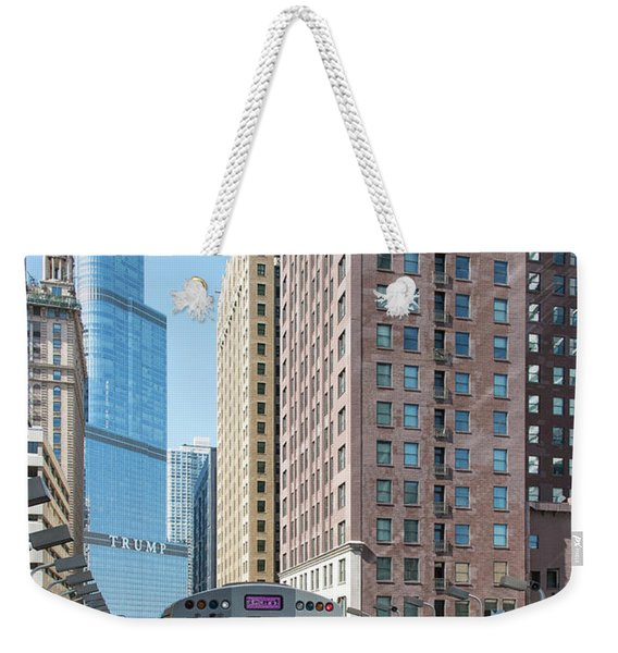 The Wabash L Train At Eye Level Weekender Tote Bag