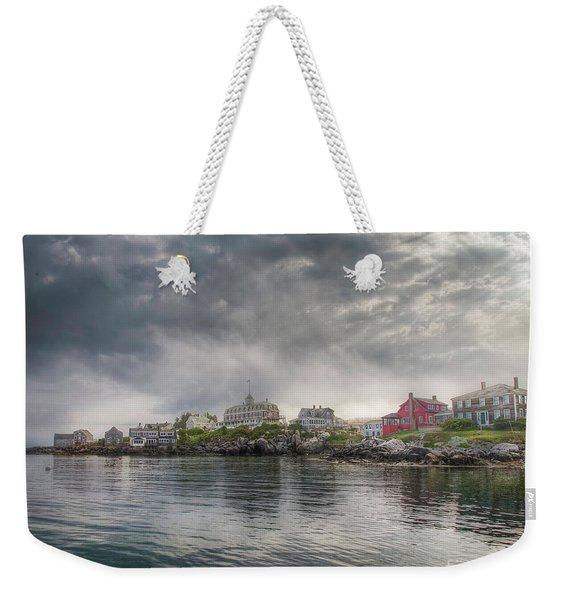 Monhegan Harbor View Weekender Tote Bag