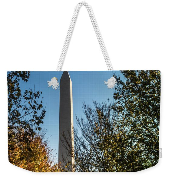 The Washington Monument In Fall Weekender Tote Bag