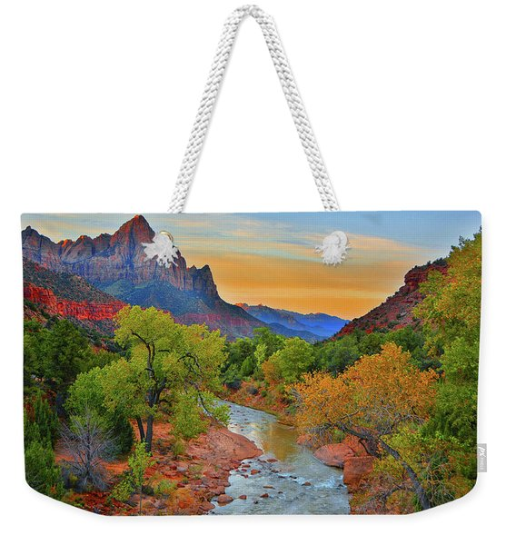 The Watchman And The Virgin River Weekender Tote Bag