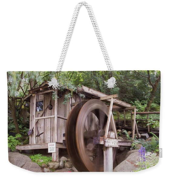The Water Wheel Keeps Turning ... Weekender Tote Bag