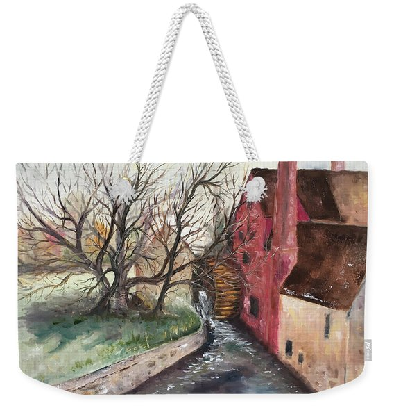 The Water Wheel Weekender Tote Bag