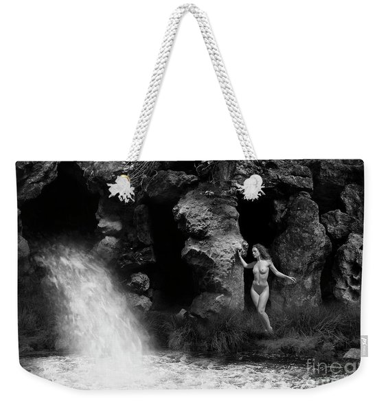 Weekender Tote Bag featuring the photograph The Waterfall by Clayton Bastiani