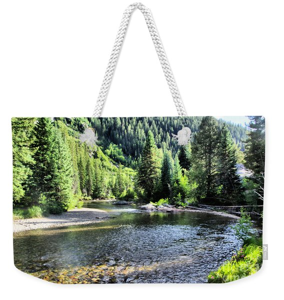 The Way A River Turns Weekender Tote Bag