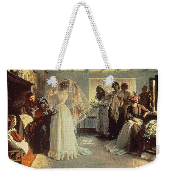The Wedding Morning Weekender Tote Bag