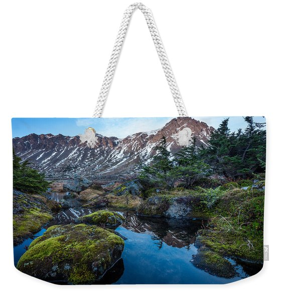Weekender Tote Bag featuring the photograph The Wedge In Late Autumn by Tim Newton