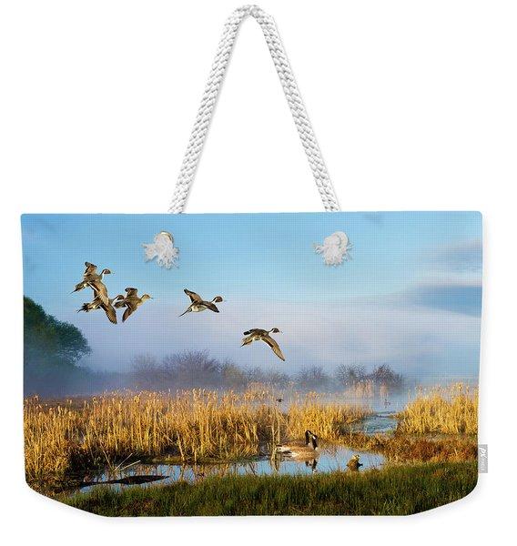 The Wetlands Crop Weekender Tote Bag