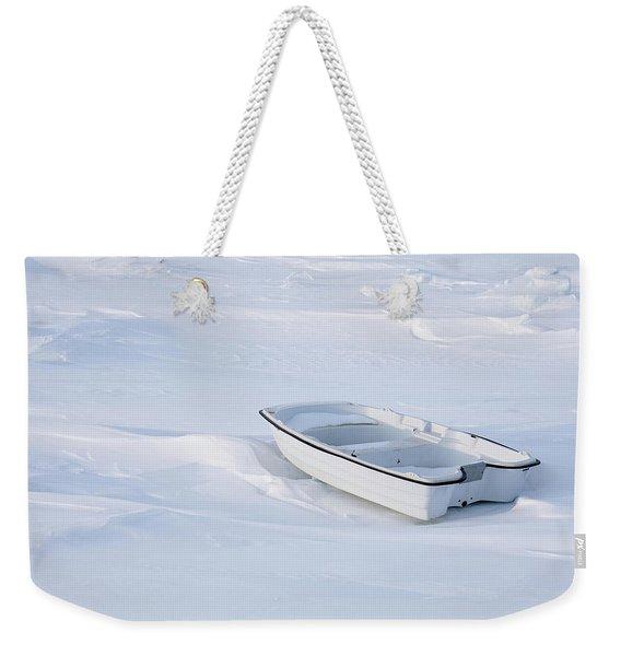 The White Fishing Boat Weekender Tote Bag