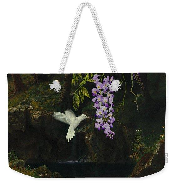 The White Hummingbird Weekender Tote Bag