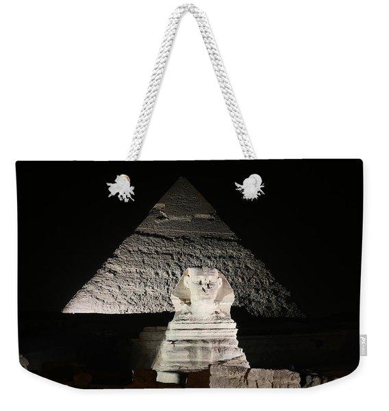 The White Sphynx Weekender Tote Bag