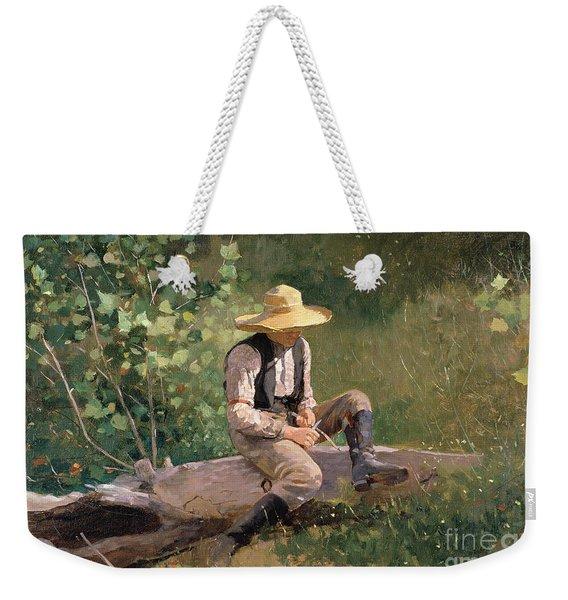 The Whittling Boy Weekender Tote Bag