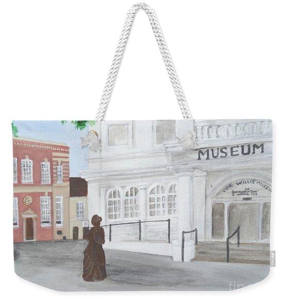 The Willis Museum Basingstoke With Jane Austen Statue Weekender Tote Bag