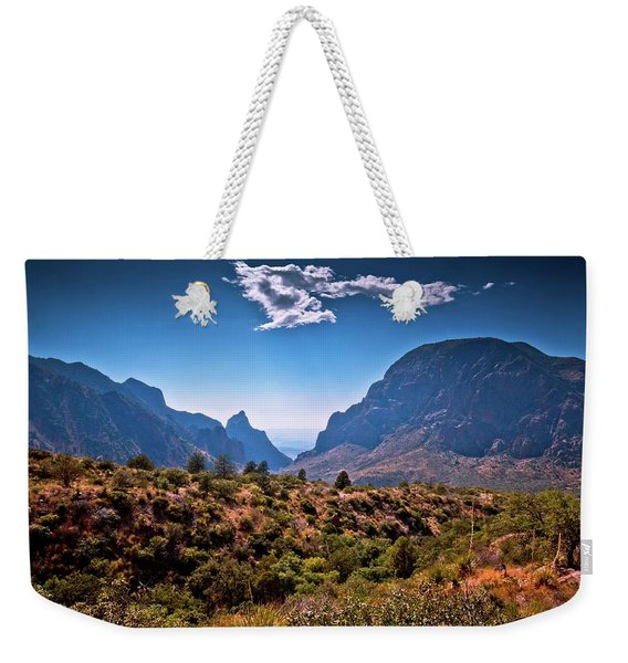 The Window In The Chisos Mountains Weekender Tote Bag