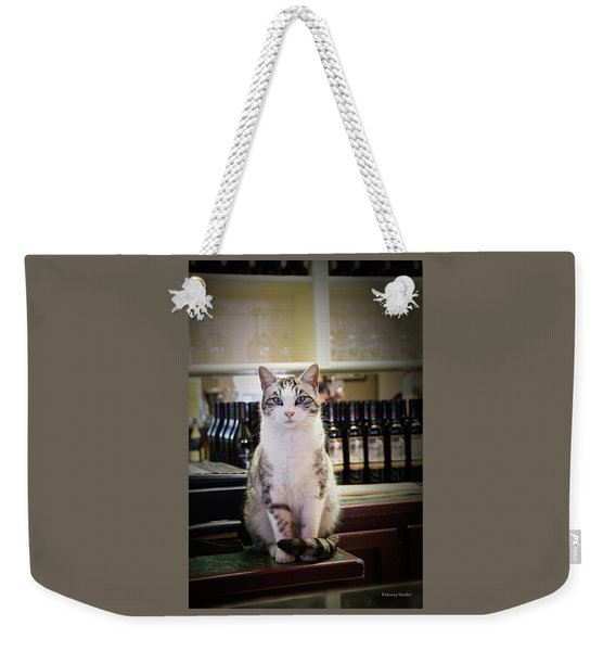 The Winery Cat Weekender Tote Bag
