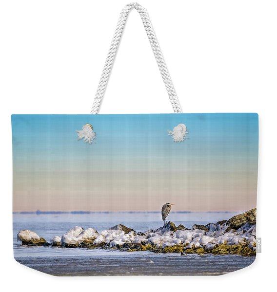 The Winter Heron Weekender Tote Bag
