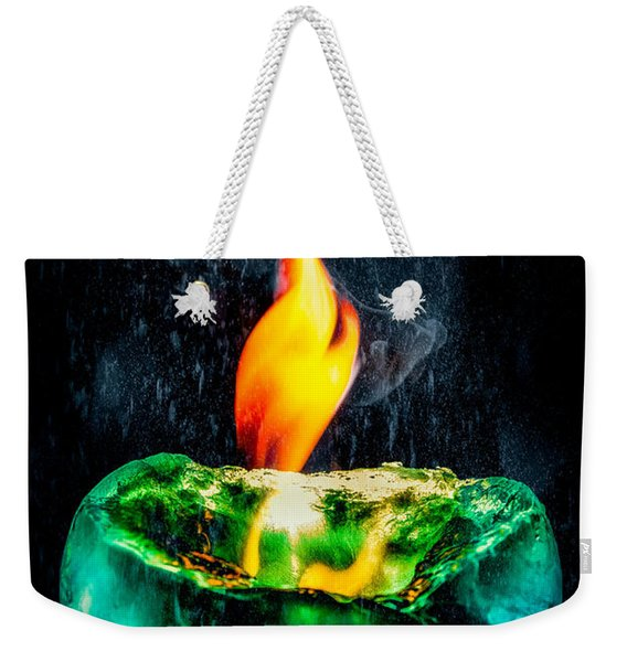 The Winter Of Fire And Ice Weekender Tote Bag