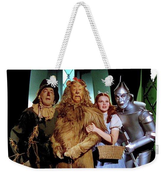 The Wizard Of Oz  Quartet Eric Carpenter Publicity Kodachrome 1939 Weekender Tote Bag