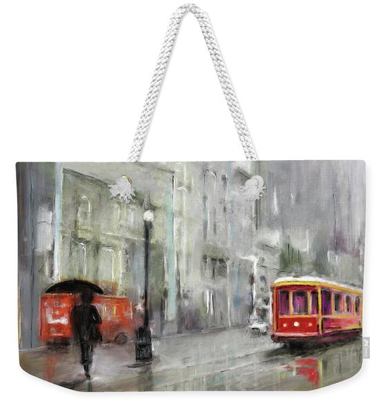 The Woman In The Rain Weekender Tote Bag